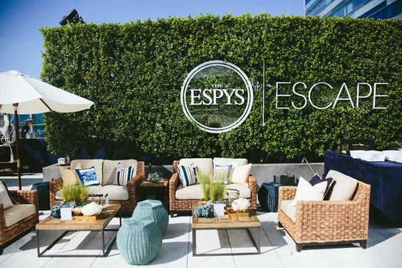 The Espys outdoor lounge