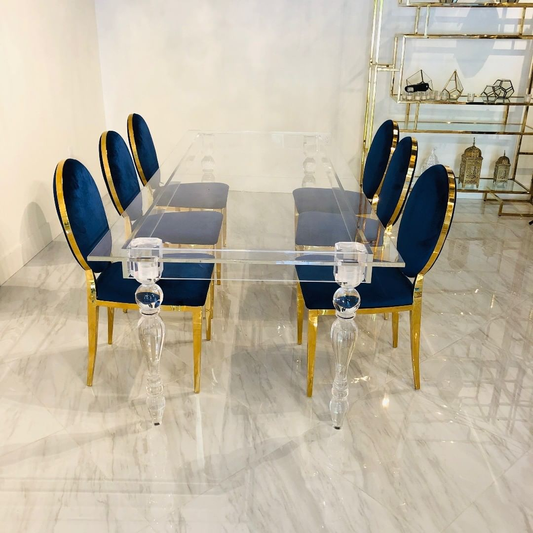 Luxury chair and clear table- Accent Event Rental
