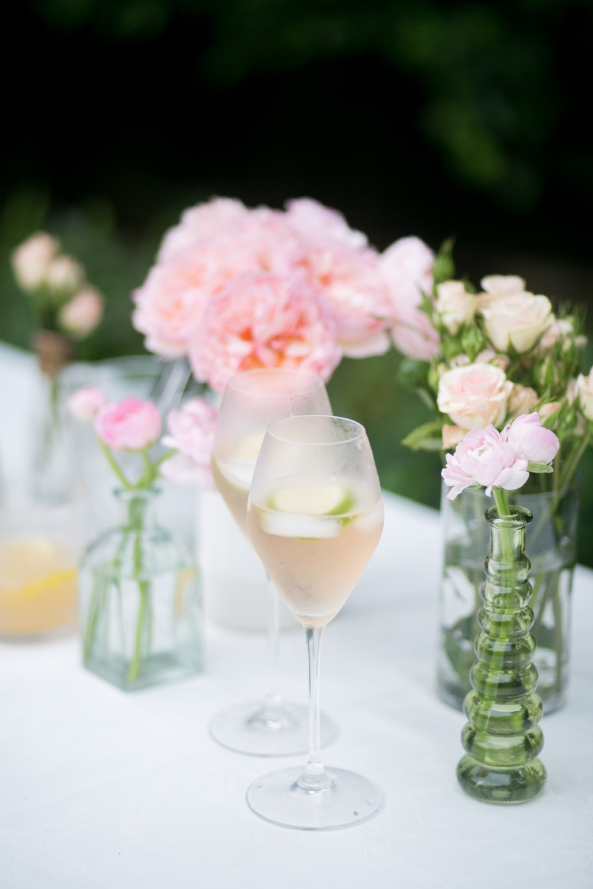 Prettiest Cocktails by the Fashionable Hostess - St Germain and Rose Cocktail