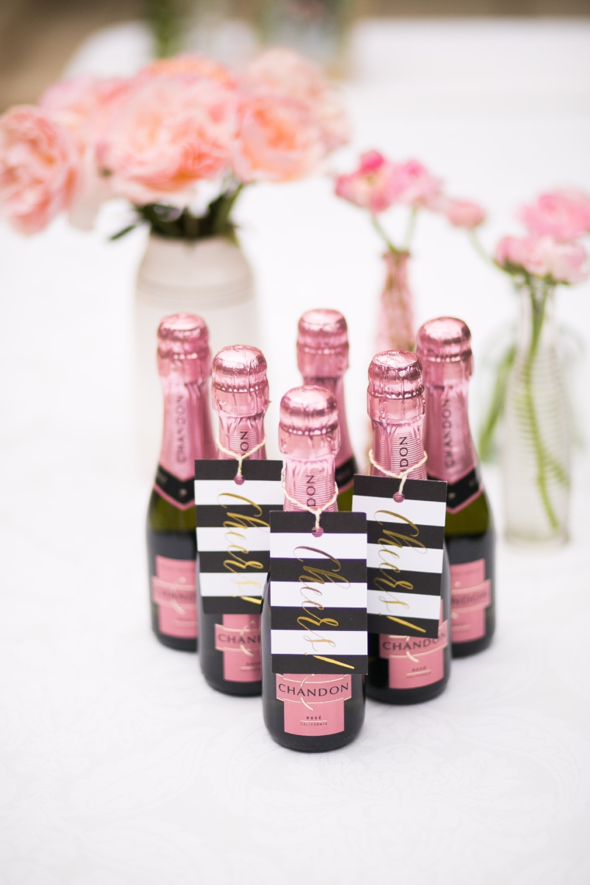 Prettiest Cocktails by the Fashionable Hostess - mini Bottles of champagne