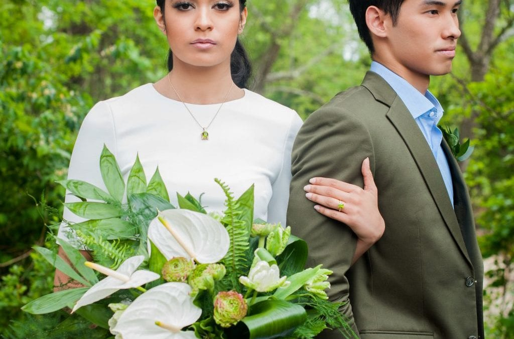 Editorial: Modern Greenery Style Shoot