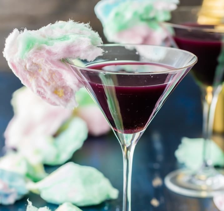 Magic Cotton Candy Martini
