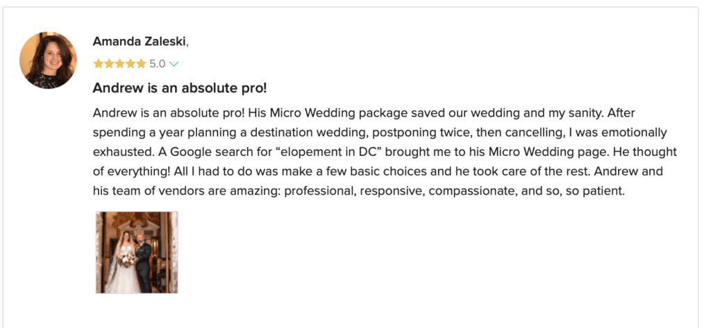 Amanda & Don Washington DC Micro Wedding